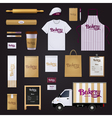 Bakery Corporate Identity Template Design Set vector image vector image