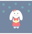 Cute Bunny holding a star vector image