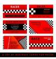 Business card driver race - third set vector image vector image