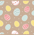 easter seamless pattern flowers eggs vector image