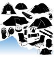 camping equipments vector image vector image