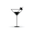 martini with olives in a glass vector image
