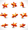 set of nine differernt stars vector image