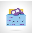 Flood insurance flat color icon vector image