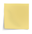 Yellow sticky note with turned up corner isolated vector image