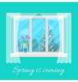 Spring window vector image