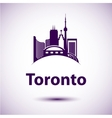 city skyline with landmarks Toronto Ontario vector image