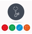 Stethoscope icon Medical doctor equipment vector image