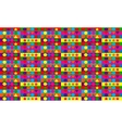 Abstract multicolored geometric seamless pattern vector image