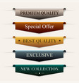 collection of premium promo sealsstickers vector image