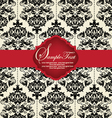 Damask invitation card vector image