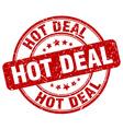 hot deal red grunge round vintage rubber stamp vector image