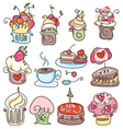 icons of cupcakes vector image
