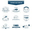 Seafood logos template vector image