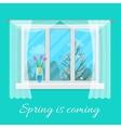 Spring window vector image