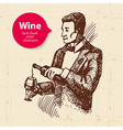 Wine vintage background with banner vector image