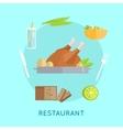 Restaurant Food Conceptual vector image