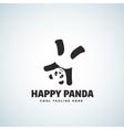 Happy Panda Abstract Emblem or Logo vector image