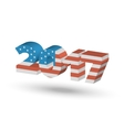 New Year sign with USA flag texture vector image