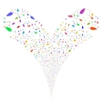Feather Double Fireworks Stream vector image