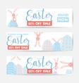 horizontal easter sale vector image