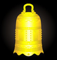 chinese golden bell artifact vector image