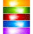 Vector set of bright banners vector image