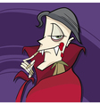 Cartoon of funny vampire vector image