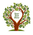 tree with leaves and branches in the shap vector image