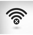 Creative WiFi Disconnect vector image