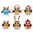 fun owls vector image