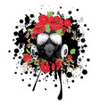 gas mask with roses vector image