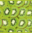 hand-drawn seamless background with kiwi fruit vector image
