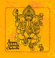 hindu god ganesha hand drawn vector image