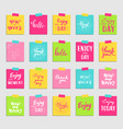 lettering for greeting card and sticker vector image