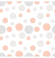 Minimal hand drawn seamless pattern with circles vector image