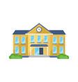 school building front yard for school children vector image
