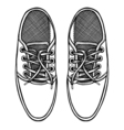 Skaters Shoes Top View vector image