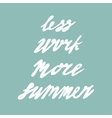 Summer card poster emblem quote vector image