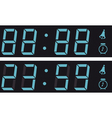 The display a digital clock vector image