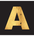 Uppercase letter A of the English alphabet vector image