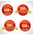 Best product guarantee label stickers vector image vector image