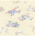 seaml colors airplanes-14 vector image