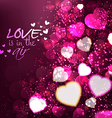 abstract valentine 3background vector image vector image
