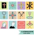 catholic icons vector image