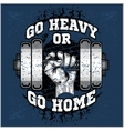 Heavy dumbbell in hand Grunge style vector image
