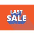 last sale vector image