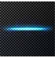 Abstract blue light and fire flash element on dark vector image