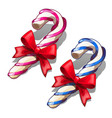 christmas red and blue delicious lollipops vector image