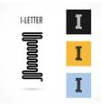 Creative I - letter icon abstract logo design vector image